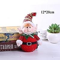 HASUKUN デコレーション1ピース素敵な人形サンタクロース雪だるまクリスマスツリーペンダント吊り飾り新年クリスマス装飾ホームパーティーの装飾