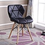 レジャーチェア ラウンジチェア-PUレザー製-快適で柔らかい-腰の健康のため-耐久性-ソリッドフレーム-リビングルーム、寝室、コーヒーショップ用 レジャーチェア (Color : Black)