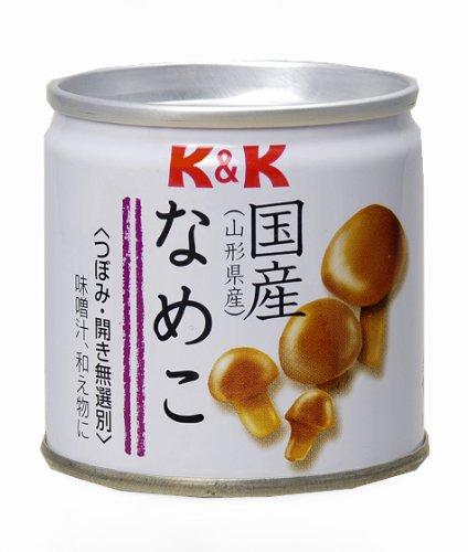 K&K 国産なめこ水煮缶 80g×6個