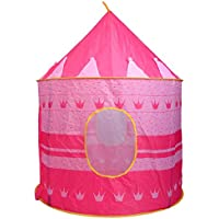 jaxpety Princess Castle Play Tent for Girlsインドアとアウトドア楽しいピンク