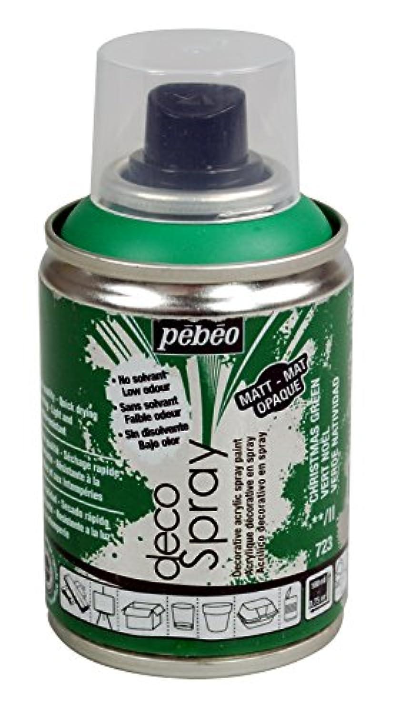 Pebeo 水性アクリルスプレーペイント デコスプレー 100ml マット色 NO.723クリスマスグリーン