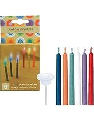 kameyama candle(カメヤマキャンドル) rainbowmoments(レインボーモーメント)6色6本入り 「 6本入り 」 キャンドル(56050000)