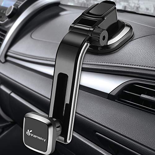 Vansky 車載ホルダー マグネット式車載ホルダー 磁気車載ホルダー 磁気カーマウントホルダー 車載スマホスタンド 携帯ホルダー 車載スマホホルダー 強力磁力 マグネット式車載スマホホルダー 車載ホルダー マグネット 抜群の強力吸盤 取り付き便利 360度回転可 片手操作可 多機種に適用可能