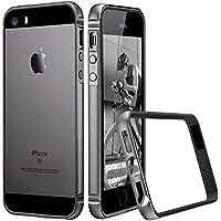 ESR iPhone SE 5 5s ケース クリア 衝撃吸収バンパー スリム 軽量 電波影響無し ストラップホール付き iPhoneSE/5s/5通用 保護ケース(グレー)