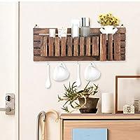 WENZHE キッチン収納りキッチンラック収納棚 壁掛け式キッチンラックワゴンリビングルーム 多機能 Incorporated ウッディー 手作り、 50 * 18cm (色 : 2 pieces)