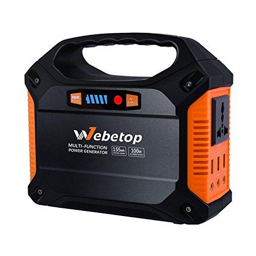 155Whポータブル電源 家庭用蓄電池 42000mAh 予備電源 AC100W DC USB出力 ...