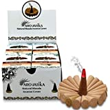 ARO VATIKA Vedic Dragon's Blood Natural Masala Incense Cones 120 Cones in Pack of 12 Boxes | Best for Prayer, Meditation and