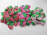 いちごモチーフ3種 60個 アップリケ 飾り アクセサリー パーツ 裁縫
