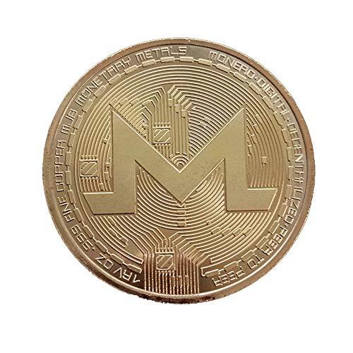 coraly ビットコイン 金メッキ Bitcoin仮想通貨 コイングッズギフト ヨッロパ アメリカ コイン 記念硬貨 (モンローコイン(ゴールデン))