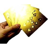 しあわせ倉庫 圧倒的ゴージャス トランプ ゴールド カード金色 マジック ゲーム プラスチック (ゴールド)