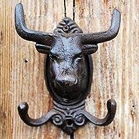 PLL ヨーロッパスタイルのカントリーレトロキャストアイアンフックコートフック牛頭部モデルフック