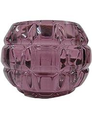 ノルコーポレーション ガラス キャンドルホルダー ノスタルギッシュ オールドレッド OH-NOH-1-1