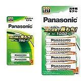 パナソニック 充電式エボルタ 単4形充電池 2本 スタンダードモデル BK-4MLE/2B &  充電式エボルタ 単3形充電池 4本 お手軽モデル BK-3LLB/4B