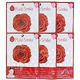 Pure Smile ピュアスマイル 乳液エッセンスマスク ローズ 6枚セット