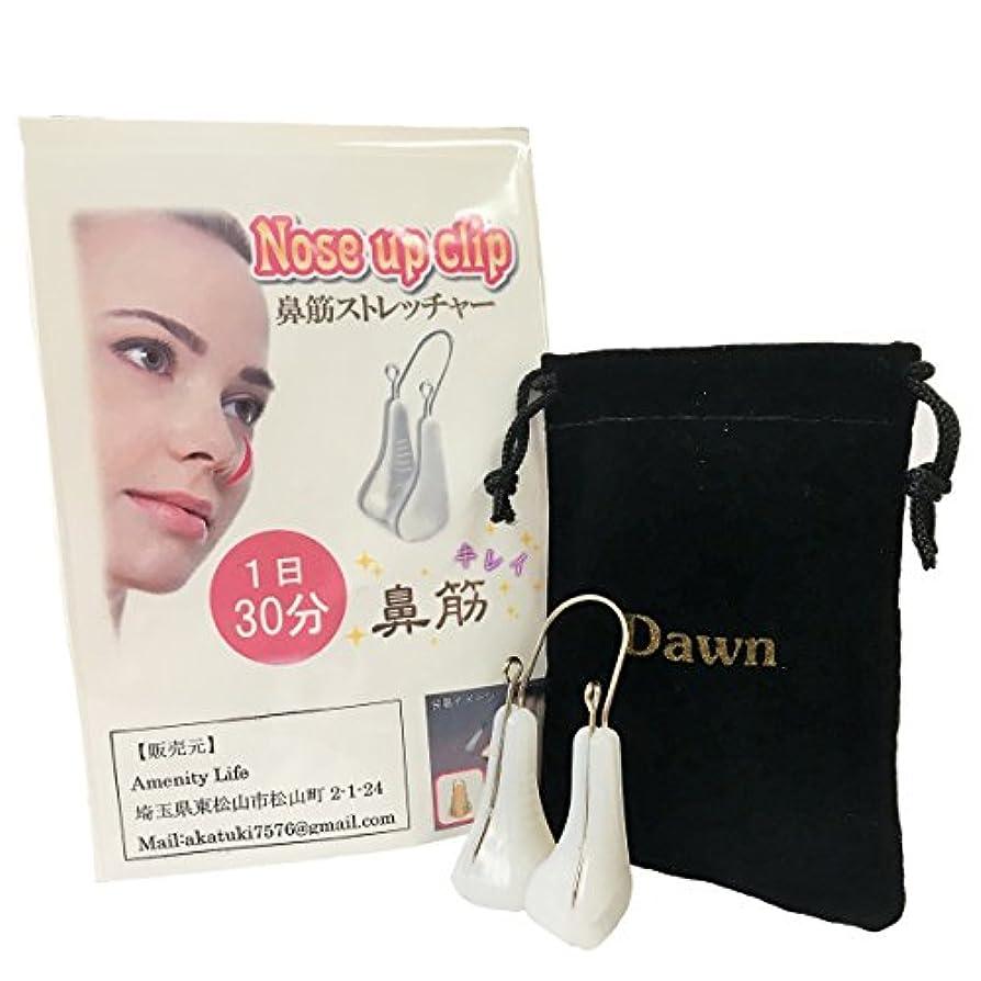 回転する協力的放散するDawn ノーズクリップ 1日30分の鼻筋矯正 団子鼻 アップノーズ 鼻 矯正 説明書 保存袋付き