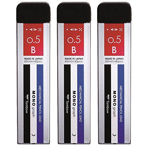 シャープペン芯 MONO モノグラフMG 0.5 B 3個 ECG-320