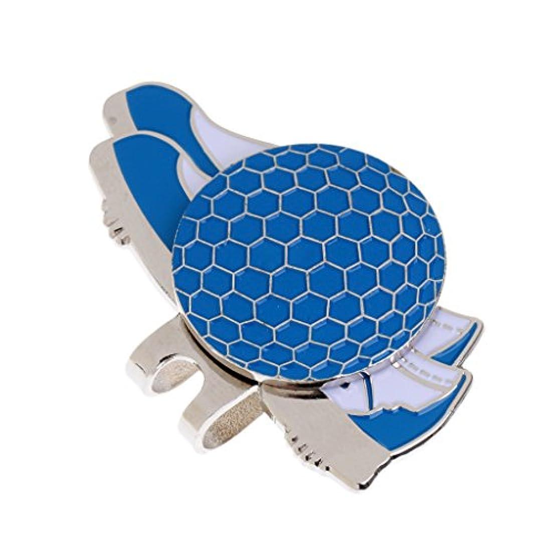 マチュピチュ電気悲しいことにPerfk ステンレス ゴルフ 靴のスタイル ハットクリップ マグネット ボールマーカー グリーンマーカー 4色選べる