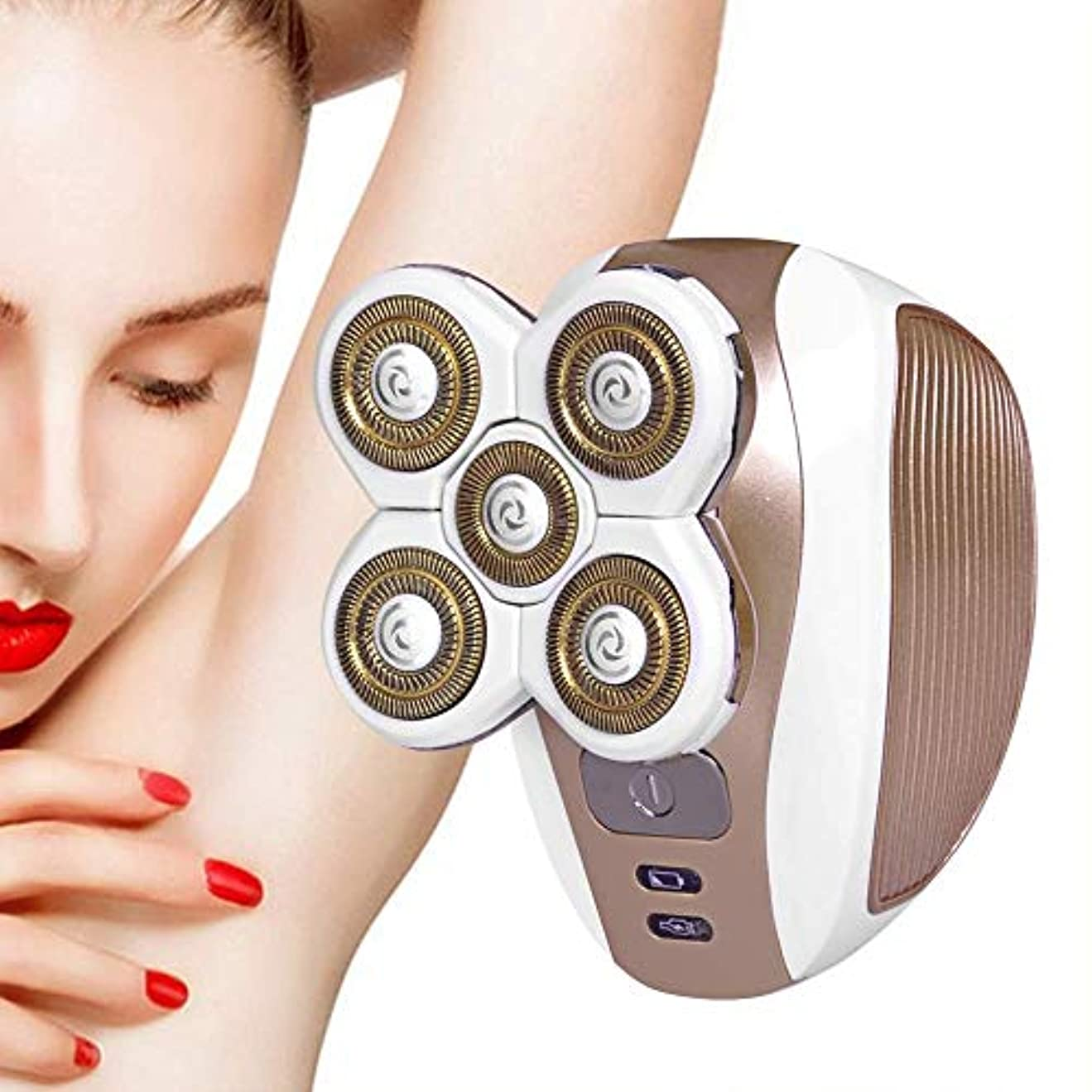 顔毛リムーバー、ポータブル電気かみそり、USB充電式コードレス防水、防水レディース電気シェーバー、ファズ/フェイシャルヘア/リップ/チン