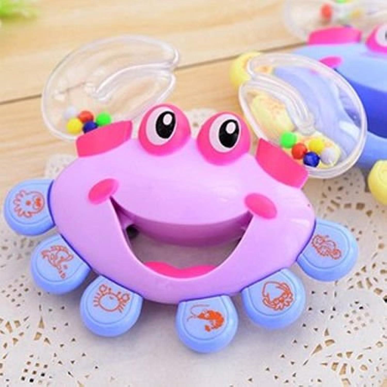 キッズ赤ちゃんCrabデザインHandbell Musical Instrument Jingle Shaking RattleおもちゃHi