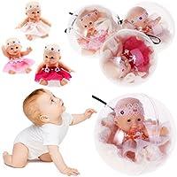 kalttoyi人形透明ボール夢ギフト、Lifelikeリアルな赤ちゃん、4インチおもちゃソフトボディ
