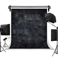 Kate 3x3m 黒の背景布 レトロな黒の背景 黒のグラデーションの背景 ポートレート写真の背景 写真スタジオ 撮影用 背景布 写真撮影用の背景幕 装飾用 無反射布 スエードの背景 カスタマイズ可能な背景