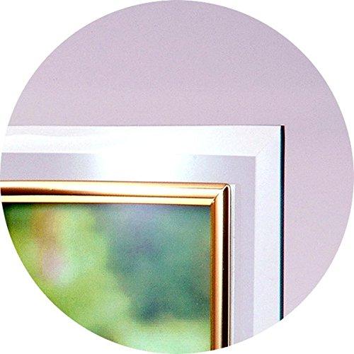 クリスタルトリプル曲フォトフレーム/時計付き写真立て 〔L版=サービスサイズ対応〕 ガラス製