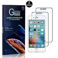【2枚セット】 iPhone 7 Plus / 8 Plus フィルム CUNUS Apple iPhone 6 Plus / 6S Plus 専用設計 強化ガラスフィルム 硬度9H 超薄0.26mm スーパークリア オイル防止 気泡防止 飛散防止 耐衝撃 液晶保護フィルム