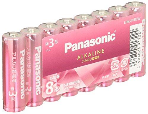 パナソニック 単3形カラーアルカリ乾電池 8本パック ピンク LR6LJP/8SW