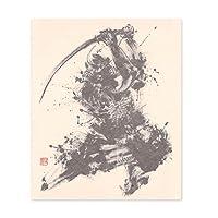 【Yu-ki Nishimoto WORKS】西元祐貴 墨絵和紙ふせん 武者