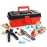 baobë ねじ止めブロック 組み立て おもちゃ 木製 DIY 知育玩具 変形 8種類モデル 立体パズル 8in1 男の子 工事ごっこ 子供向け ごっこ遊び 誕生日 プレゼント 入園 ギフト スターターセット コンストラクションセット 63ピース