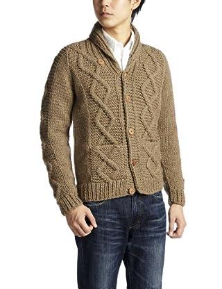 Canadian Sweater Company Aran Button Shawl Collar Cardigan 09CN37: Oatmeal