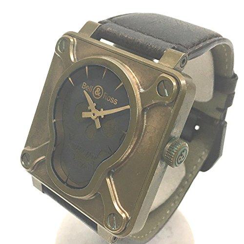 (ベル&ロス)Bell&Ross BR01-92-SKULL-BR 世界500本限定 スカル ブロンズ メンズ腕時計 腕時計 ブロンズ×チタン/革ベルト メンズ 中古