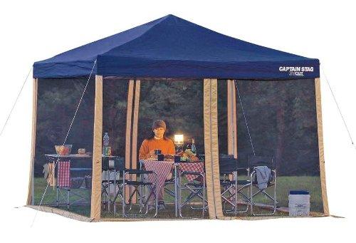 キャプテンスタッグ キャンプ テント・タープ用 虫よけ 蚊帳 スクリーンパネル 300×200UVM-3174