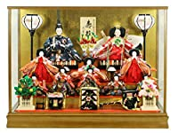 雛人形 ケース入り ケース飾り 10人飾り ひな人形 十人 おしゃれ 3段飾り コンパクト