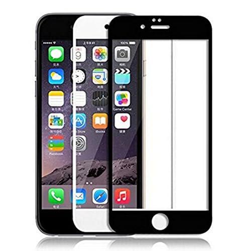 Lakko Apple iphone 6 / iphone 6s 液晶保護ガラスフィルム 9H 飛散防止 4.7インチ 日本板硝子社国産ガラス採用 全面 (白)