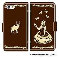 スマホケース 手帳型 isai lgl22 ケース 5002-C. 白雪姫チョコ lgl22 ケース 手帳型 [isai LGL22] イサイ