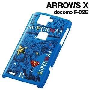 レイ・アウト docomo ARROWS X F-02E用キャラクター・シェルジャケット/スーパーマンRT-WF02EA/SM