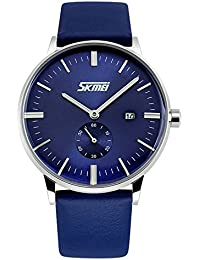 GOHUOS メンズ 腕時計 カジュアル アナログ 防水 青