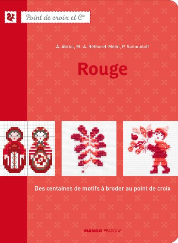 MANGO 「Rouge」 クロスステッチ作品・図案集-フランス語