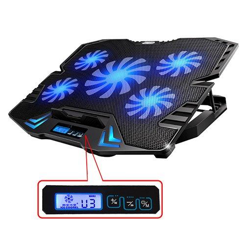 TopMateコンピュータの冷却パッドが12インチから15.6インチのゲーミングノートPC USBファンは5個を持って、2500rpmで、軽量、ゲーマーのために設計