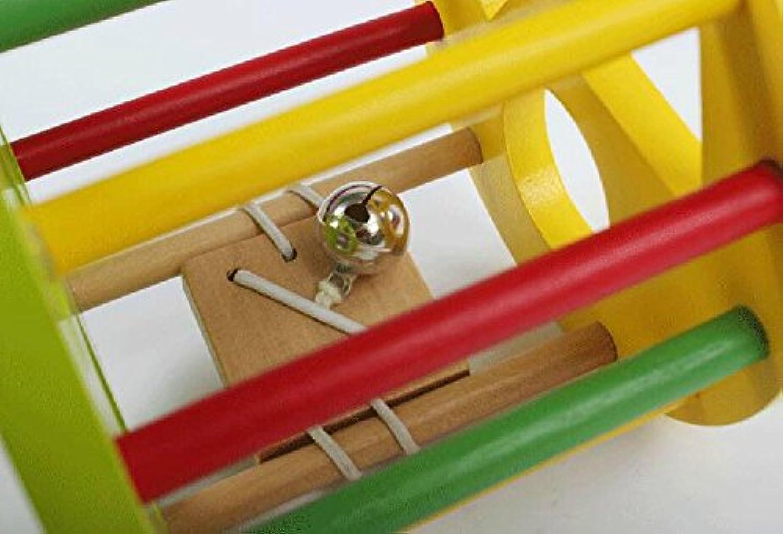 幼児期のゲーム 子供のおもちゃのカタツムリ引っ張るおもちゃ木製の教育用おもちゃ(カラフル)