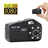 UYIKOO ムービーカメラ小型 HD高画質 暗視撮影 動体検知 高解像度1920×1080P SDカード4GB付き