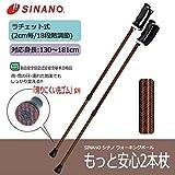 SINANO シナノ ウォーキングポール もっと安心2本杖 シェブロン