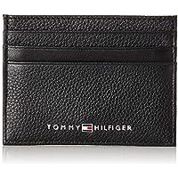 Tommy Hilfiger Men's Leather Card Holder, Black, One