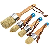 SNOWINSPRING Chalk and Wax Pure Bristle Brushes - Hand Made Multi-Use Brushes - Complete Set (4 Brushes)