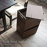 KAGLAB アジアン家具 サイドテーブル スタッキングボックス スタッキングストッカー チーク 無垢 木製 R036KA