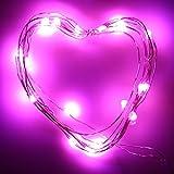 LED 20個 ライト ミニライト束 ハロウィン 新年 クリスマス Duglo 飾り おしゃれ 可愛い 結婚式 イルミネーション 電池式 パーティー 北欧風 デコレーション 部屋飾り 学園祭 装飾 レストラン 文化祭 図書館 喫茶店 String Lights (2M?20LED 多色, ピンク)