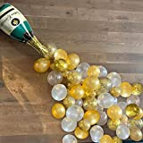 101PCS Gold Confetti Champagne Balloon Garland Arch Kit, Happy New Year, 2Pcs 40inch Champagne Bottle Balloon, Engagement Par
