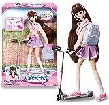 ミミの世界17歳ミミ、キックボード、バービー人形、子供のロールプレイのおもちゃセットで学校に行こう Mimi world 17 years old Mimi, Let's Go To School with Kick-board, Barbie Doll, Children Role Play Toy Set [並行輸入品]