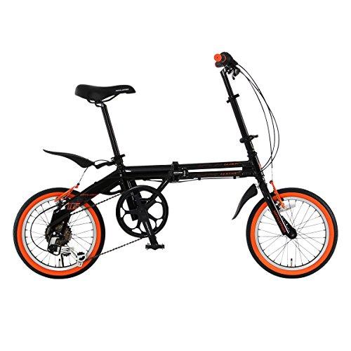 DOPPELGANGER(ドッペルギャンガー) 折りたたみ自転車 FALTRADシリーズ BLACKBULLET II 104-DP 16インチ 軽量アルミフレーム採用モデル